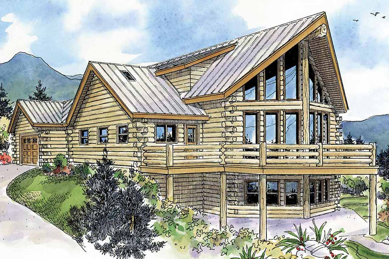A Frame House Plan - Kodiak 30-697 - Rear Elevation