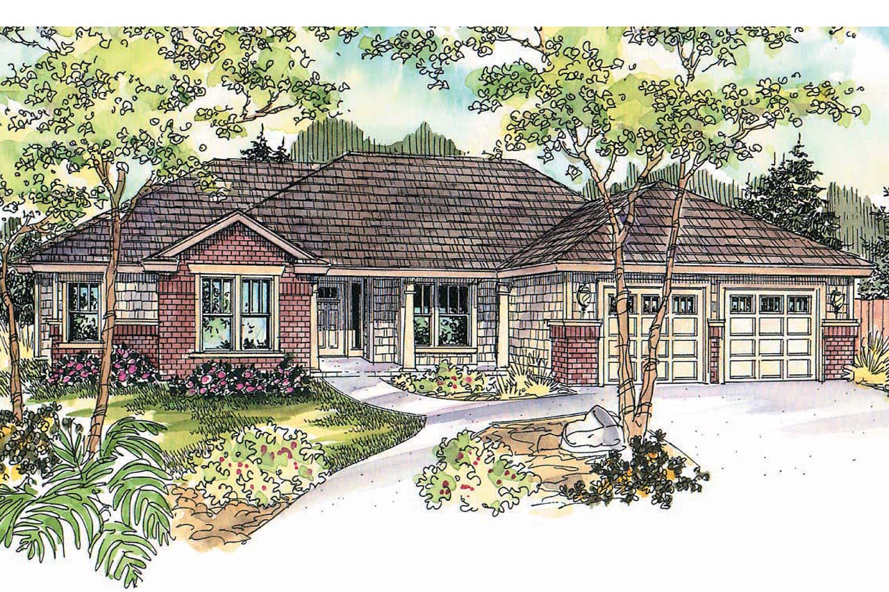 Featured House Plan of the Week, Beaufort 30-630, Ranch Home Plan, Contemporary Floor Plans