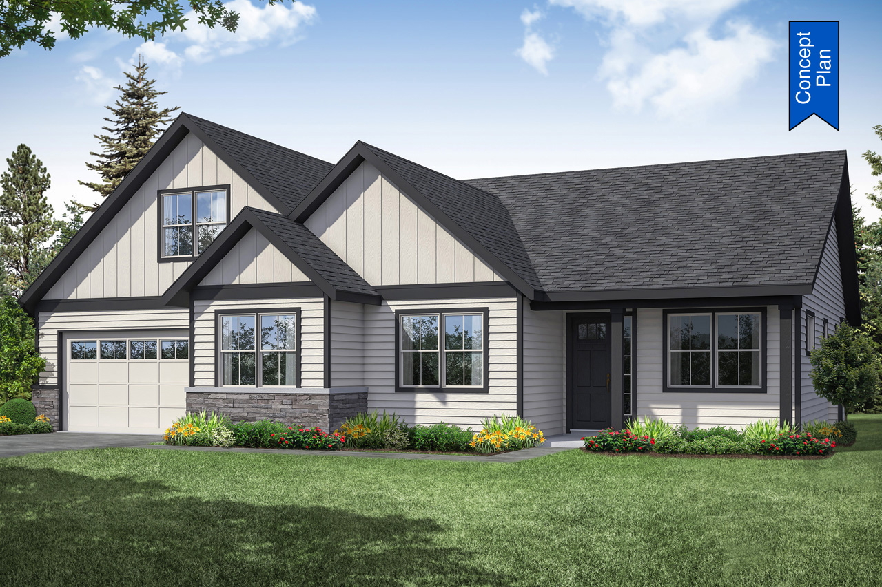 Farmhouse Plan - Tacoma 31-140 - Front Elevation