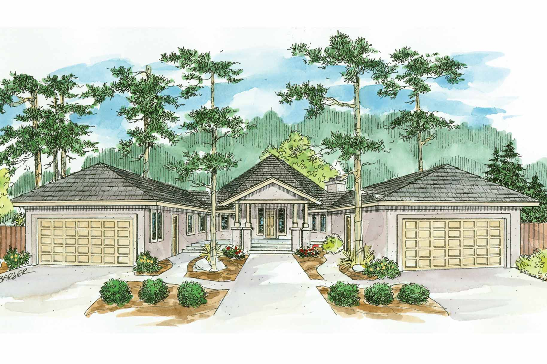 Florida House Plan - Sonora 10-533 - Front Elevation