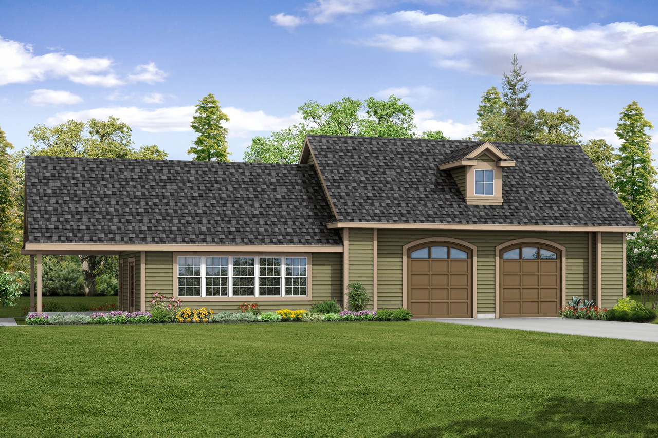 New Garage Plan, Garage with Recreation Room, 2 Car Garage, Garage 20-166