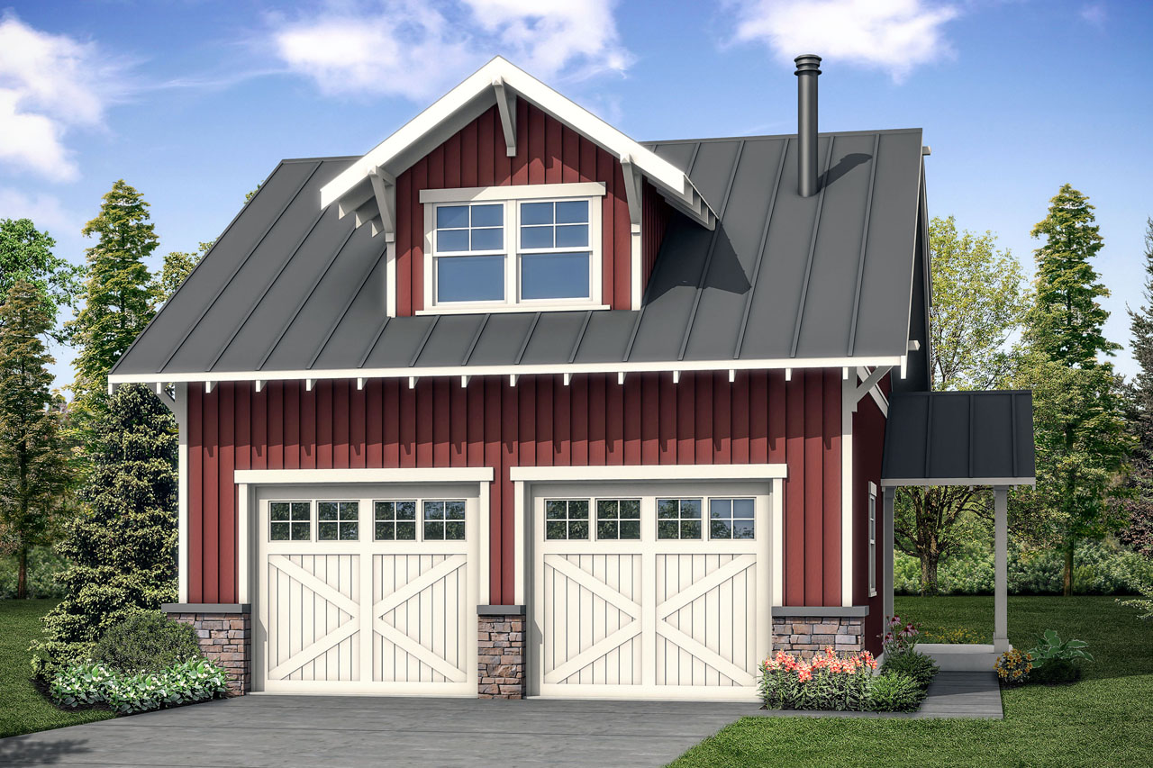 New Garage Plan, Garage Design, Garage with Studio, Garage with Living Space, Garage 20-189