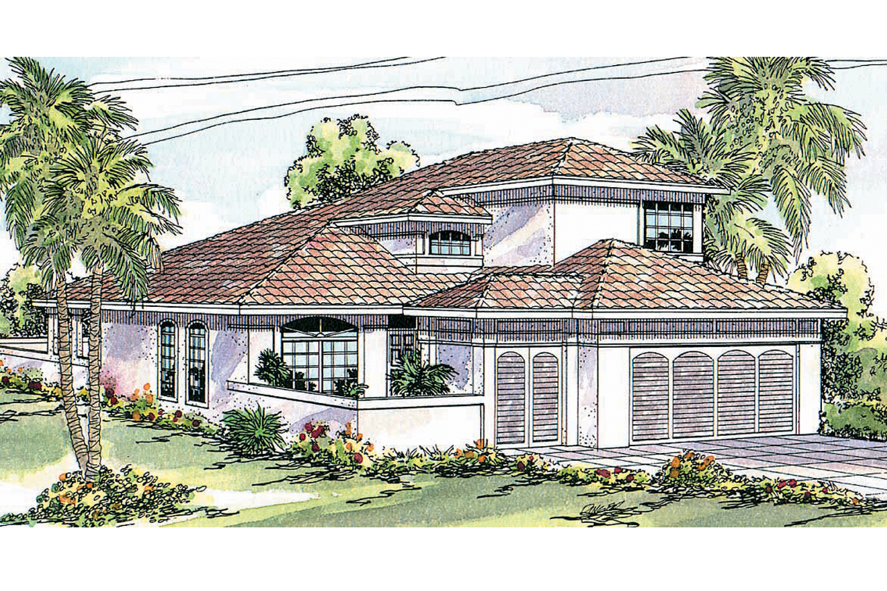 Featured House Plan of the Week, Mediterranean House Plan, Home Plan, Cortez 11-011