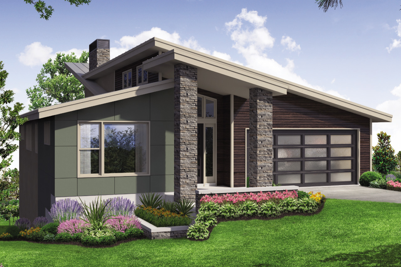 Modern House Plan, Contemporary Home Plan, Carbondale 31-126