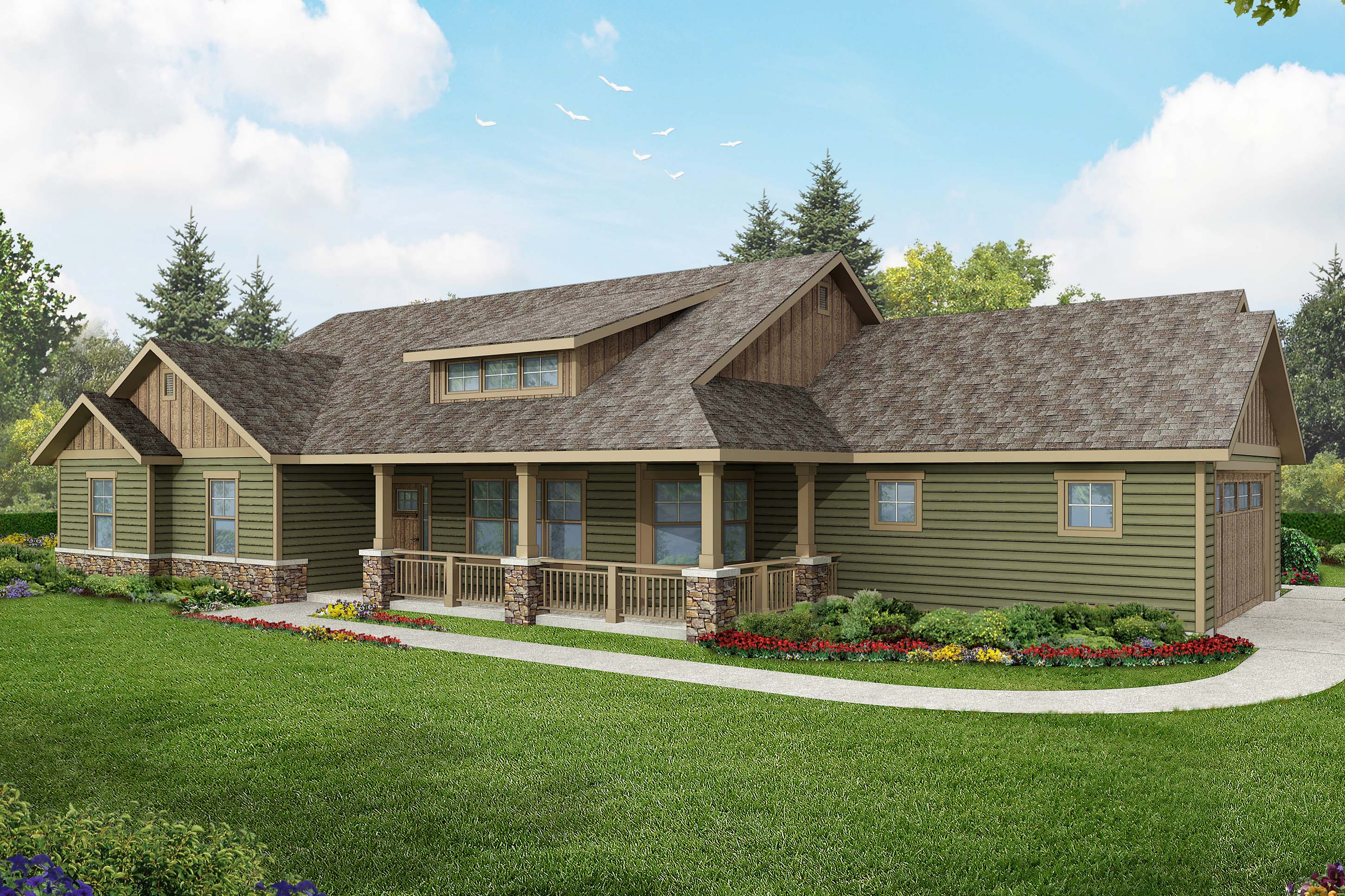 Ranch House Plan, Home from the Heart, Brightheart 10-610