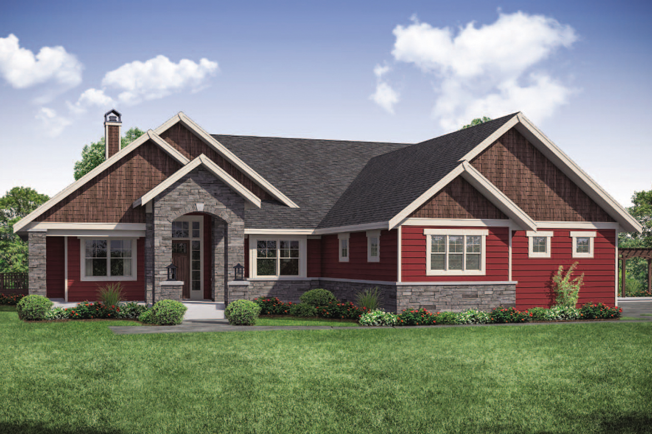 Estes Park 31-146, Ranch Home Plan, Ranch House Plan
