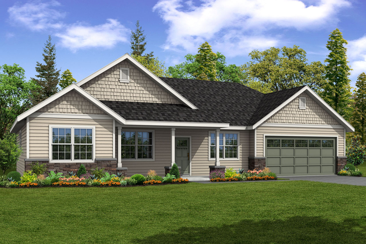 New House Plan, Ranch Home Plan, Hyacinth 31-094