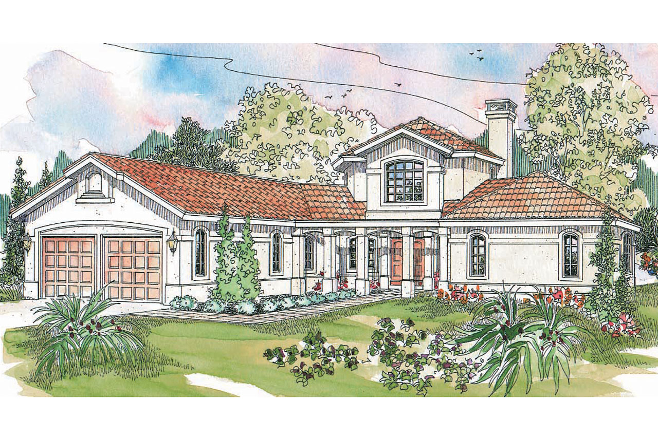 Featured House Plan of the Week, Spanish Style Home Plan, Grandeza 10-136