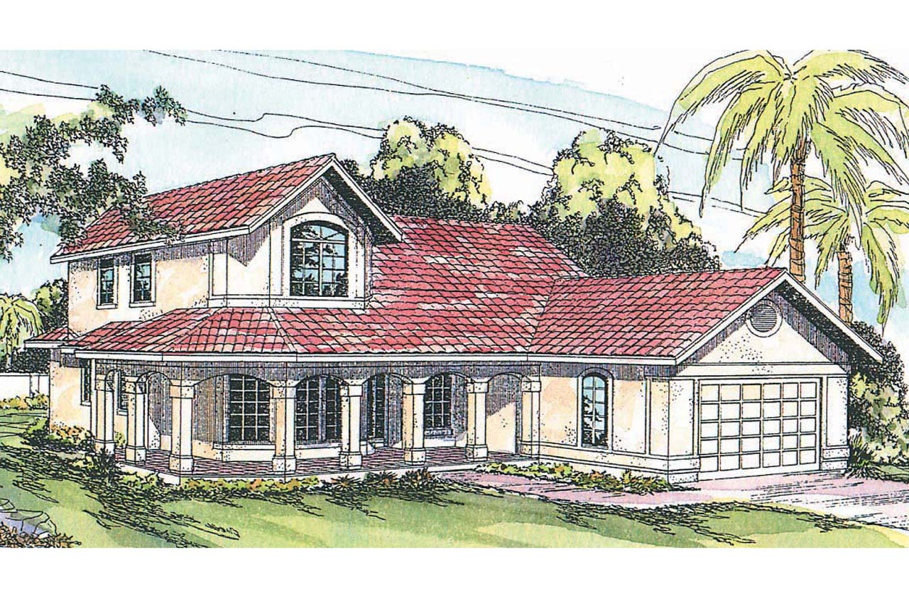 Featured House Plan of the Week, Spanish House Plans, Home Plan, Kendall 11-092