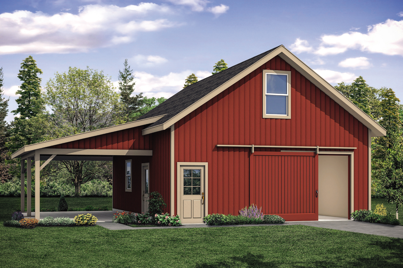 Storage Garage Plan - 20-210 - Front Elevation