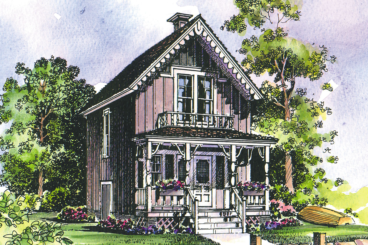 Victorian House Plan - Pearl 42-010 - Front Eelvation